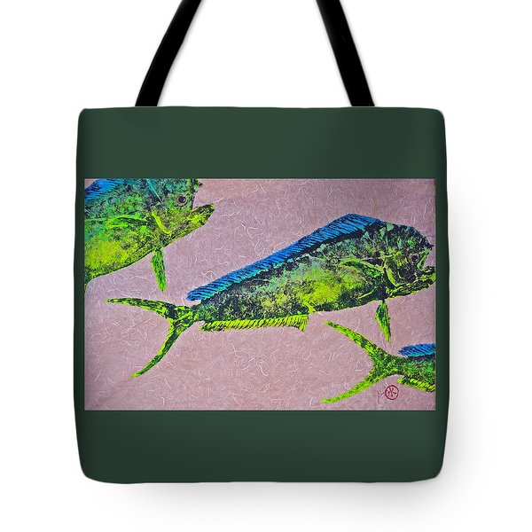 Mahi Mahi On Pink Chiffon Thai Unryu Tote Bag