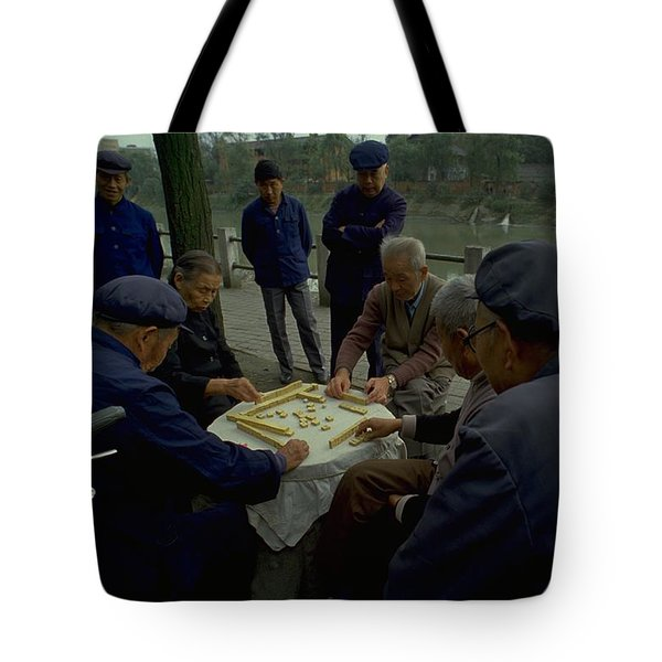 Mahjong In Guangzhou Tote Bag