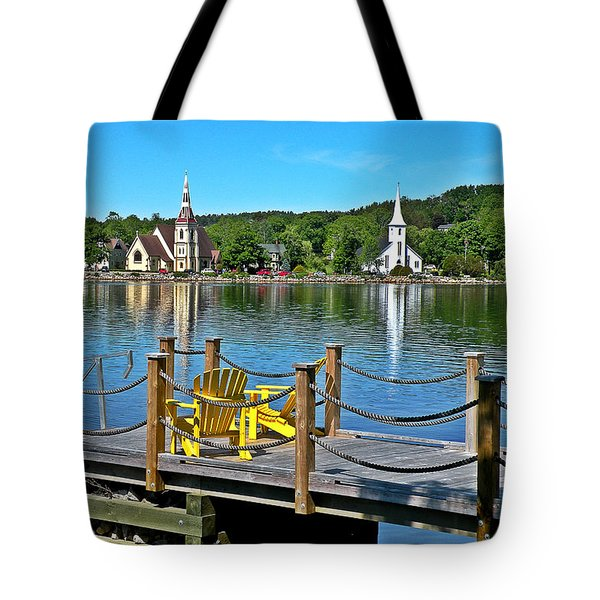 Mahone Bay Nova Scotia Tote Bag