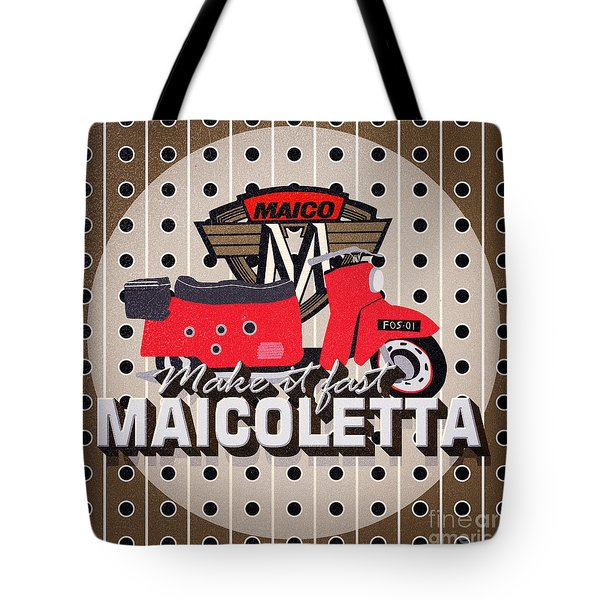 Maicoletta Scooter Advertising Tote Bag