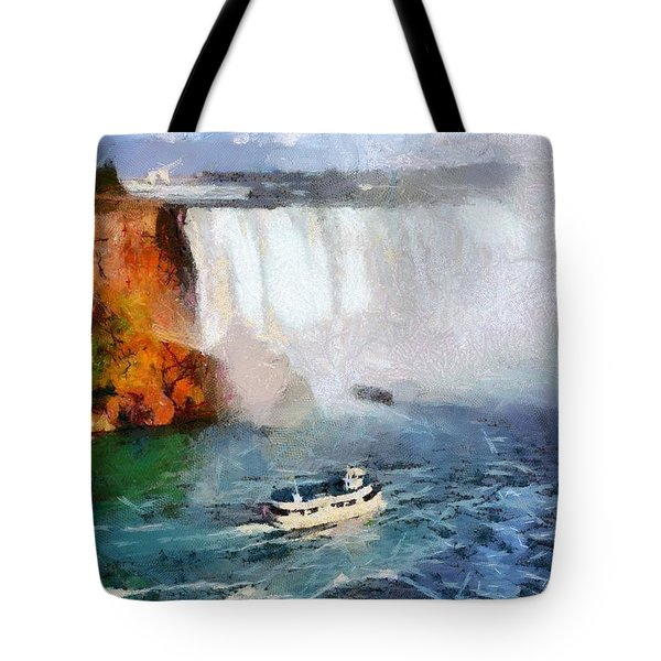 Tote Bag featuring the digital art Maid Of The Mist by Charmaine Zoe