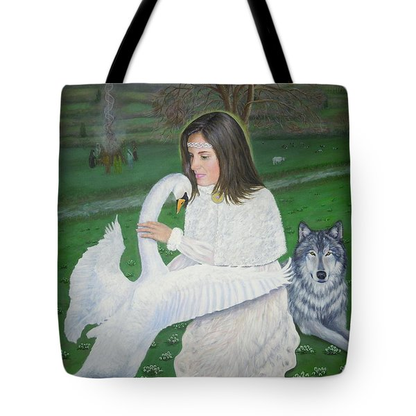 Maiden Goddess Brigit - Imbolc Tote Bag
