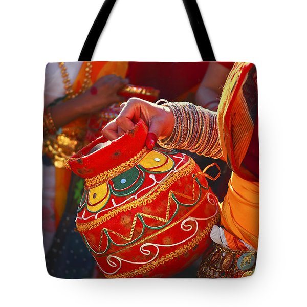 Maidens With Water Jars Tote Bag by Charline Xia