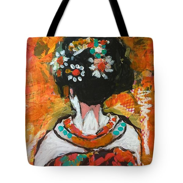 Maiko In Orange  Tote Bag