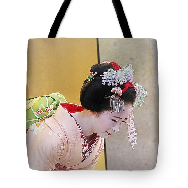 Tote Bag featuring the photograph Maiko by Yumi Johnson
