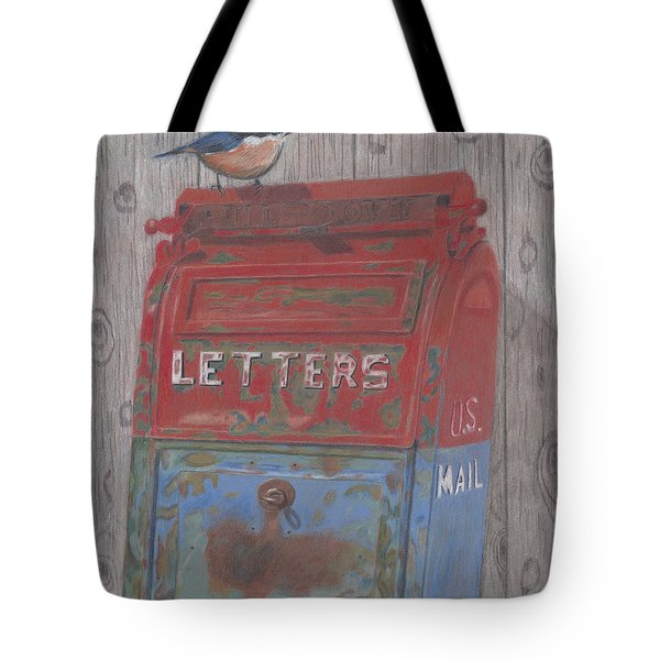 Tote Bag featuring the painting Mail Call by Arlene Crafton