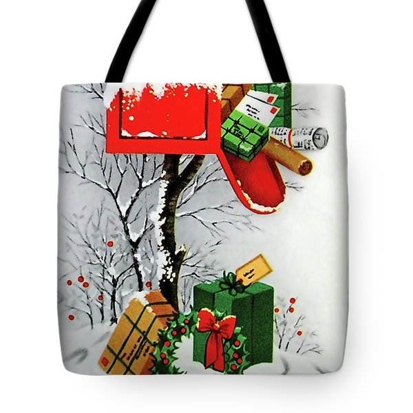 Mailbox Full Of Gifts Tote Bag