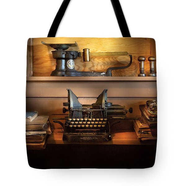Mailman - At The Post Office Tote Bag by Mike Savad