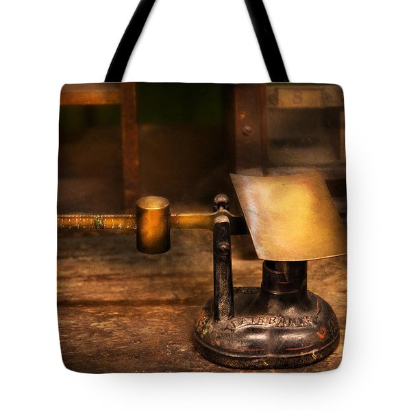 Mailman - The Mail Scale Tote Bag by Mike Savad