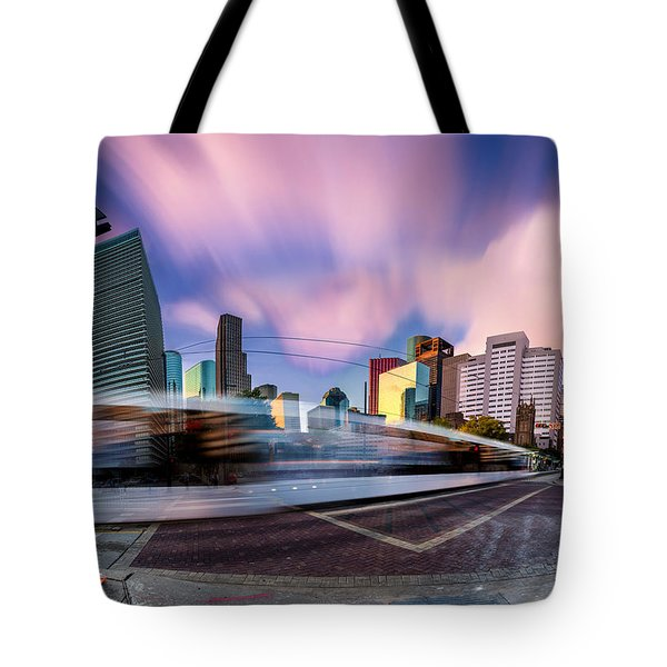 Main And Bell St Downtown Houston Texas Tote Bag