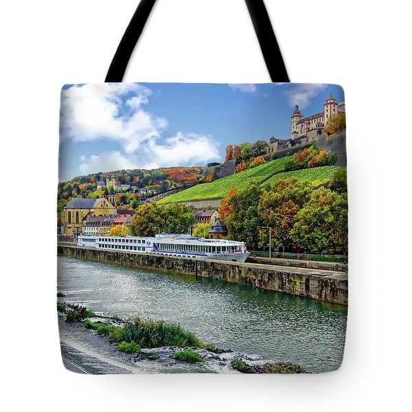 Main River Panorama Tote Bag