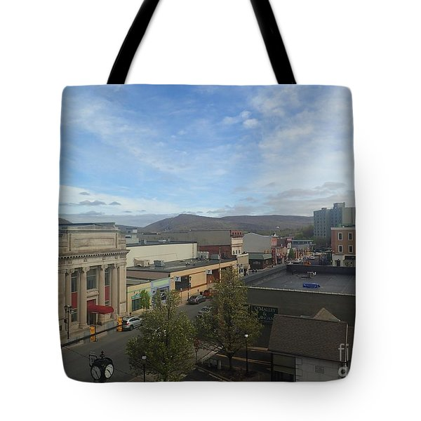 Main St To The Mountains   Tote Bag