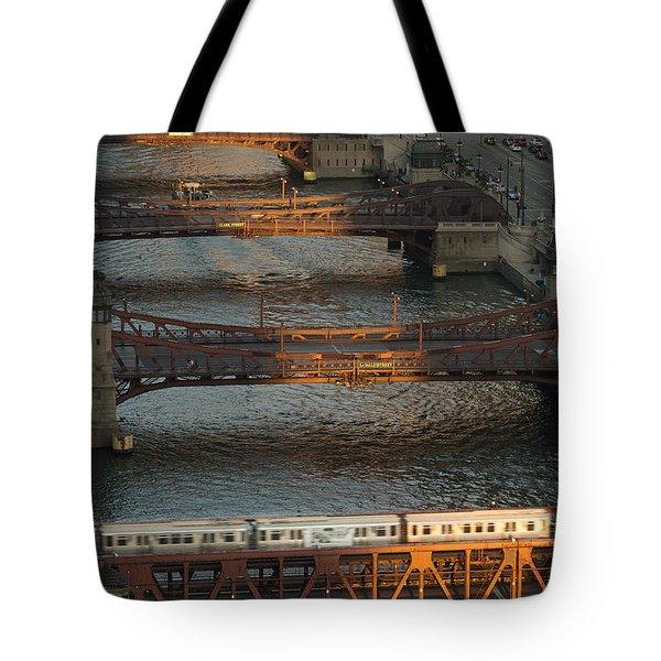 Main Stem Chicago River Tote Bag