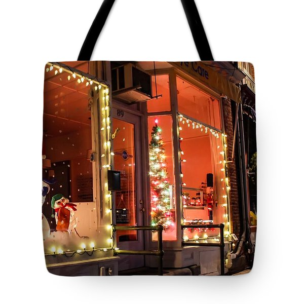 Tote Bag featuring the photograph Main Street During The Holiday Season by Sven Kielhorn