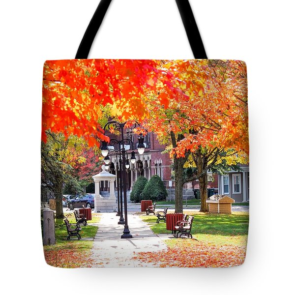 Main Street In The Fall Tote Bag