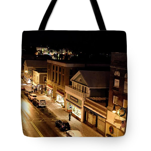 Tote Bag featuring the photograph Main Street - Lake Placid New York by Brendan Reals