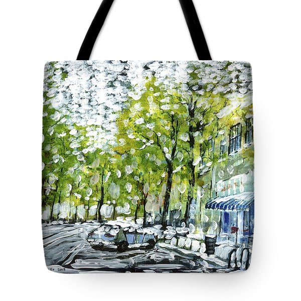 Main Street Snow Tote Bag