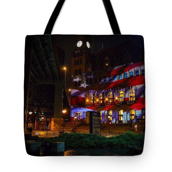 Main Street Station At Night Tote Bag