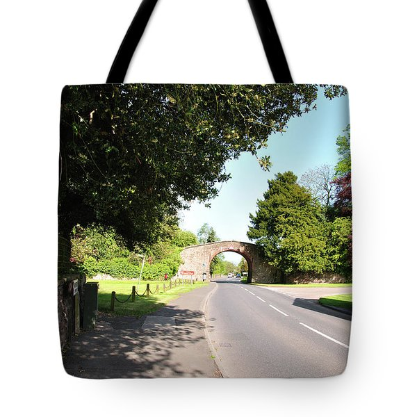 Main Street Ticknall And The Tramway Bridge Tote Bag by Rod Johnson