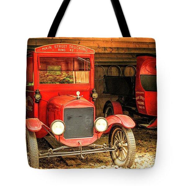 Main Street Trucking Tote Bag