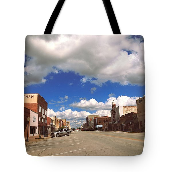 Main Street U.s. A.  Tote Bag