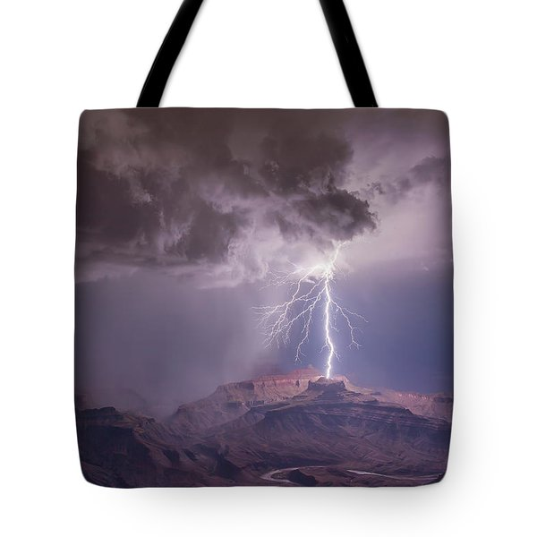Main Strike Tote Bag by James Menzies