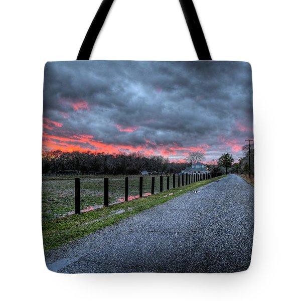 Main Sunset Tote Bag by John Loreaux