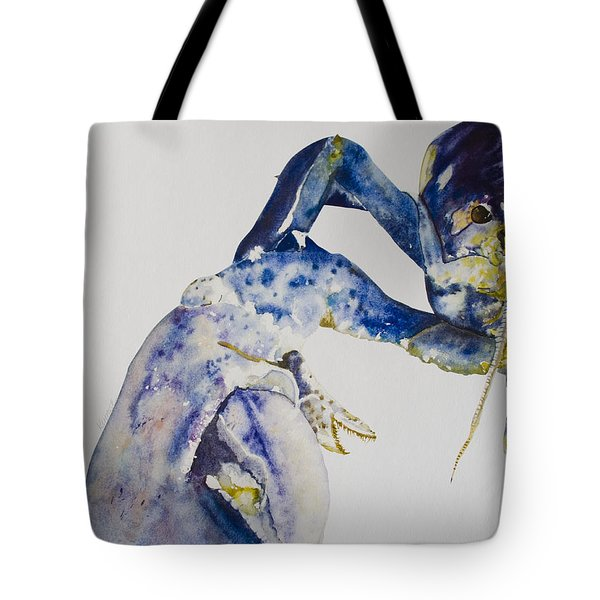 Maine Blue Lobster Tote Bag by Kellie Chasse