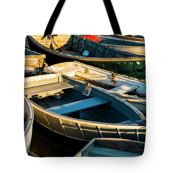 Tote Bag featuring the photograph Maine Boats At Sunset by Ranjay Mitra