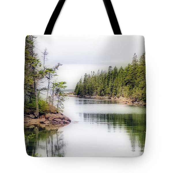 Tote Bag featuring the photograph Maine Cove  by Betty Pauwels