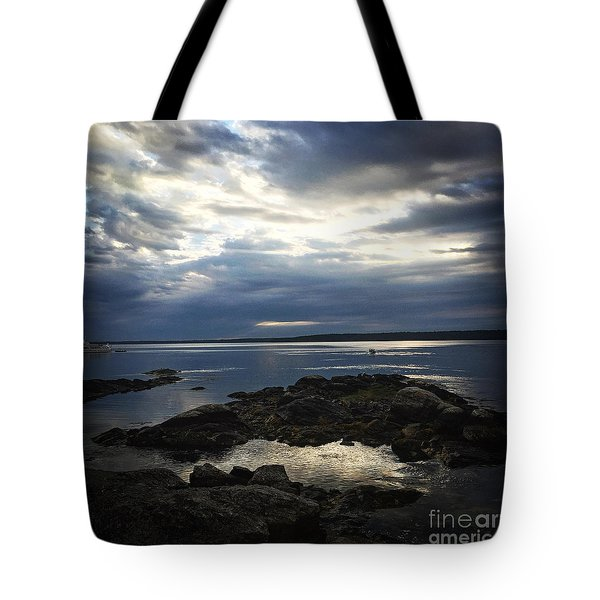Tote Bag featuring the photograph Maine Drama by LeeAnn Kendall