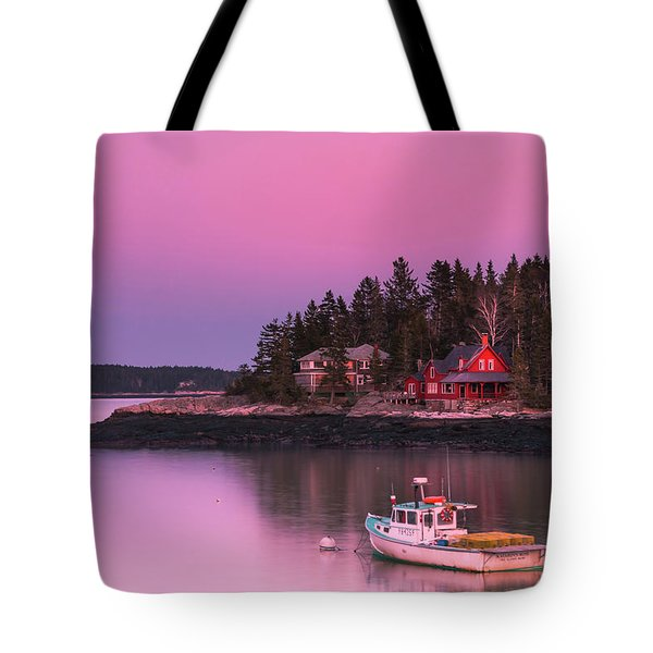 Maine Five Islands Coastal Sunset Tote Bag