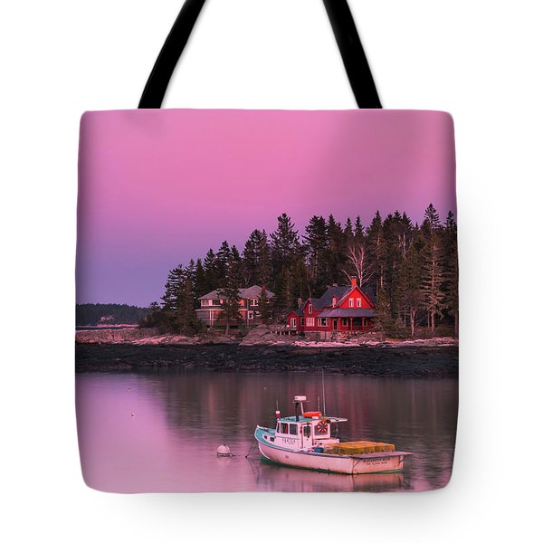 Tote Bag featuring the photograph Maine Five Islands Coastal Sunset by Ranjay Mitra
