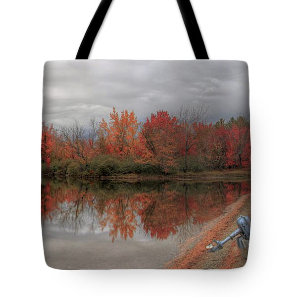 Maine Lake In Autumn Tote Bag