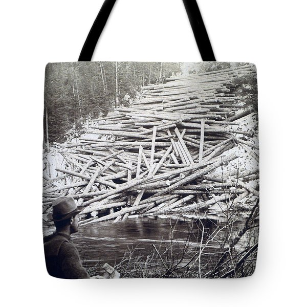 Maine Logging -  C 1903 Tote Bag by International  Images