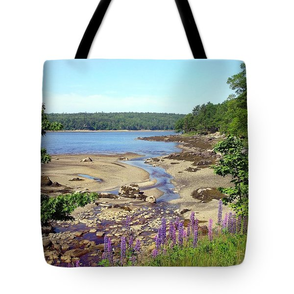 Maine Lupines Tote Bag