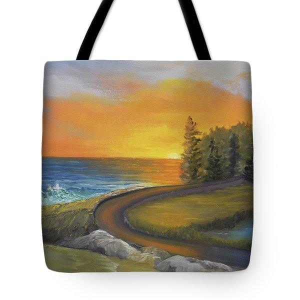 Maine Ocean Sunrise Tote Bag