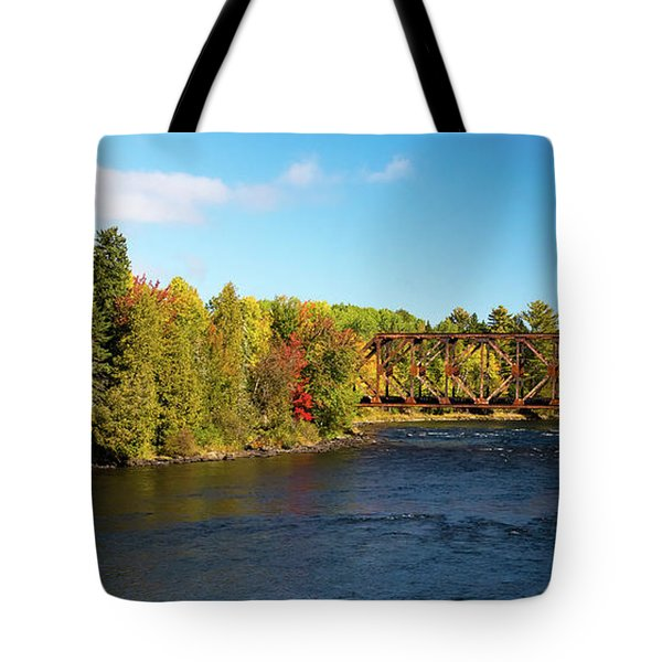 Maine Rail Line Tote Bag by Sandy Molinaro