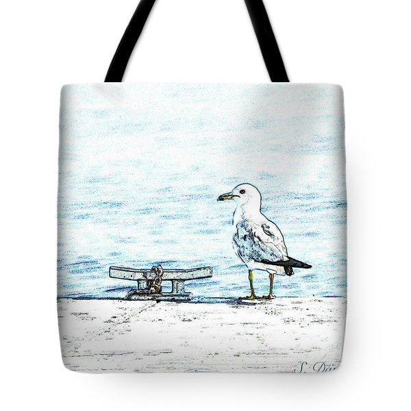 Maine Seagull Tote Bag