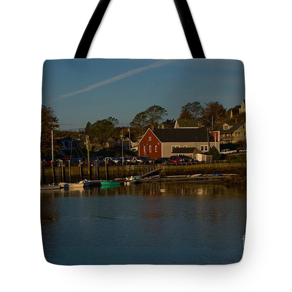 Maine- Seaports In Fall Tote Bag