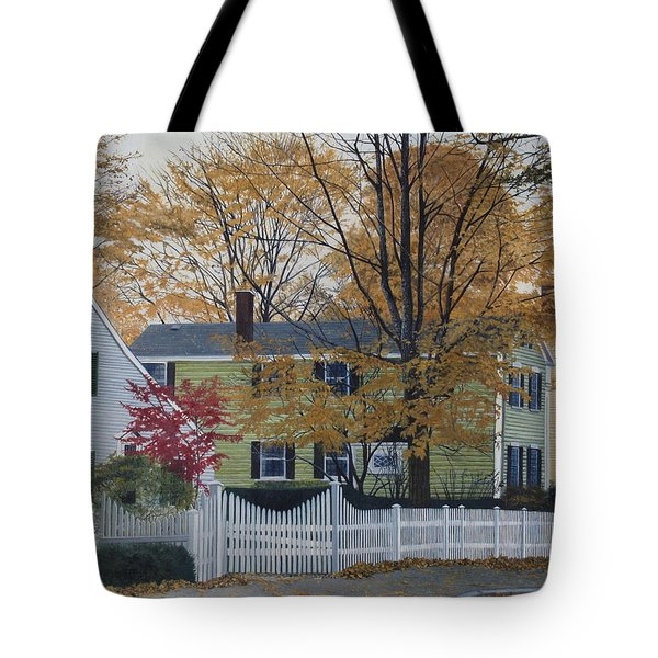 Autumn Day On Maine Street, Kennebunkport Tote Bag