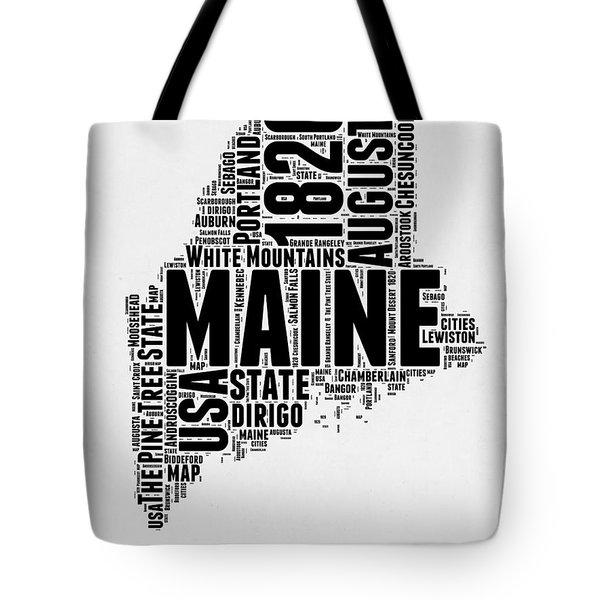 Maine Word Cloud 2 Tote Bag