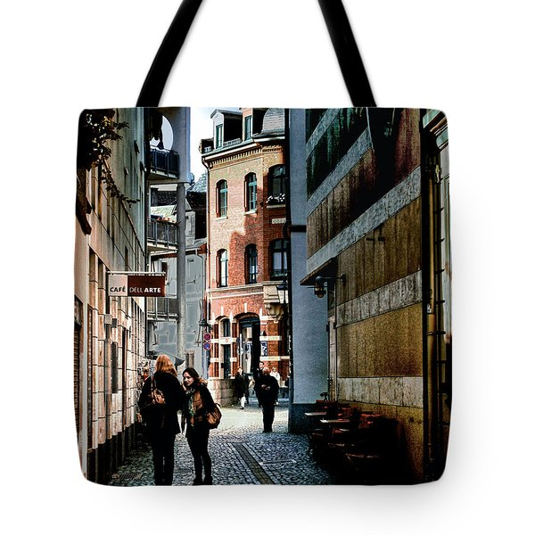 Tote Bag featuring the photograph Mainz Badergasse by Jim Hill