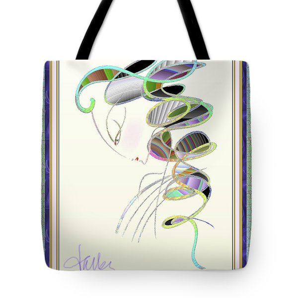 Tote Bag featuring the mixed media Maitresse-en-titre by Larry Talley