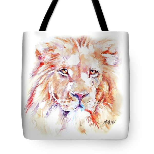 Majestic African Lion Tote Bag by Stephie Butler