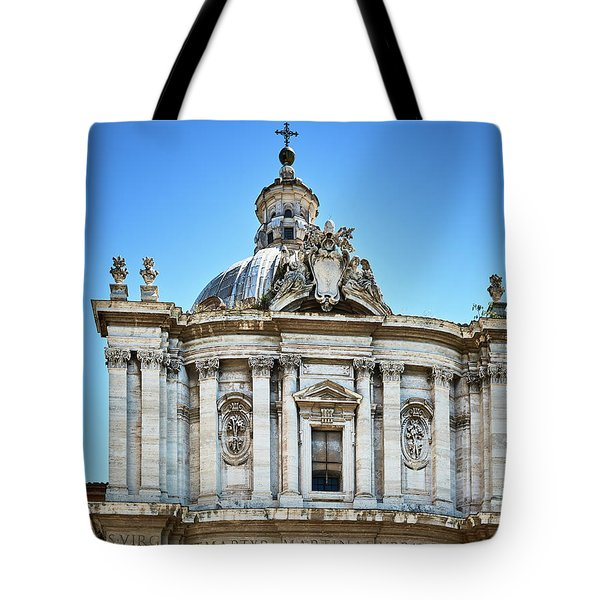 Tote Bag featuring the photograph Majestic Architecture In The Roman Forum by Eduardo Jose Accorinti