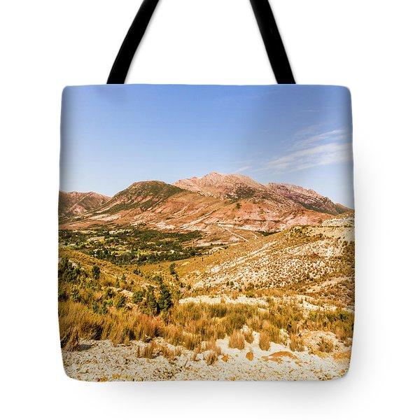 Majestic Arid Peaks Tote Bag
