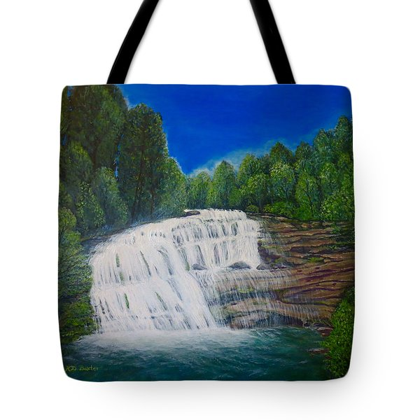 Majestic Bald River Falls Of Appalachia II Tote Bag