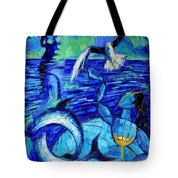 Majestic Bleu Tote Bag by Mona Edulesco