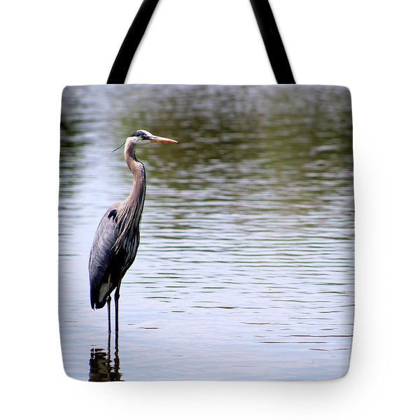 Majestic Great Blue Heron Tote Bag